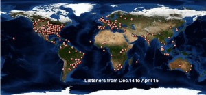 map listeners april to dec